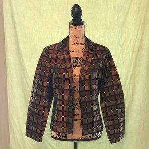 S.L.B metallic dress blazer